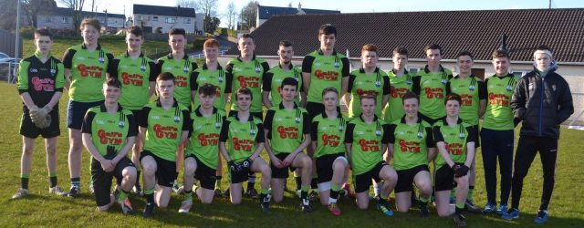 Both Domhnaigh Minors have reached the semi final of the Championship after their defeat of Gael Naomh Pádraig last night in Clogher. The final score was 1-14 to 4 – […]
