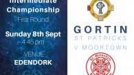 Championship football has arrived! Senior Footballers take on Moortownon Sunday eveningin Edendork, 4:45 pm. Reply to this email to sponsor this weekend's match! Last weekend Seniors drew with Augher 11 […]